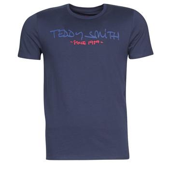 Textiel Heren T-shirts korte mouwen Teddy Smith TICLASS Marine