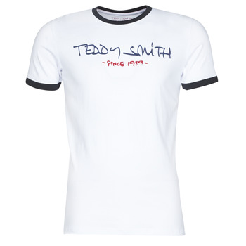 Textiel Heren T-shirts korte mouwen Teddy Smith RINGER TEE Wit