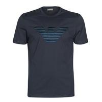 Textiel Heren T-shirts korte mouwen Emporio Armani DOUNIA Marine