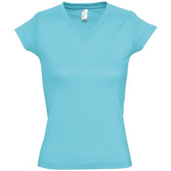 Textiel Dames T-shirts korte mouwen Sols MOON COLORS GIRL Azul