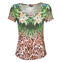 Textiel Dames T-shirts korte mouwen Desigual JUNGLE Multicolour