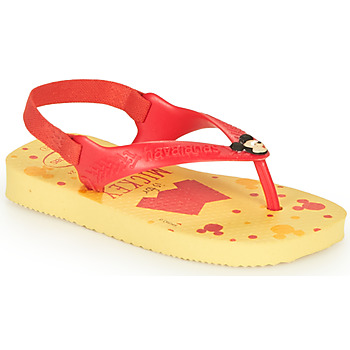 Schoenen Jongens Slippers Havaianas BABY DISNEY CLASSICS II Geel / Rood