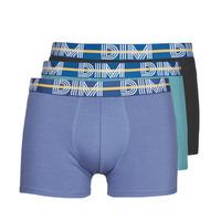 Ondergoed Heren Boxershorts DIM BO POWERFUL X3 Blauw / Groen / Zwart