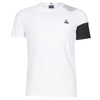 Textiel Heren T-shirts korte mouwen Le Coq Sportif ESS Tee SS N°10 M Zwart / Grijs