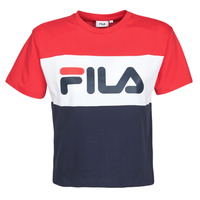 Textiel Dames T-shirts korte mouwen Fila ALLISON Marine / Rood / Wit
