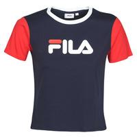 Textiel Dames T-shirts korte mouwen Fila SALOME Marine / Rood