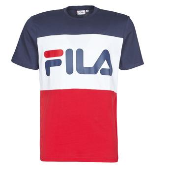 Textiel Heren T-shirts korte mouwen Fila Day Marine / Rood / Wit