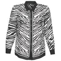 Textiel Dames Overhemden Ikks BQ12105-03 Zwart / Wit