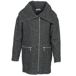 Textiel Dames Mantel jassen Noisy May ROUND Grijs / Zwart