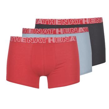 Ondergoed Heren Boxershorts Athena BASIC COLOR Zwart / Bordeaux / Grijs
