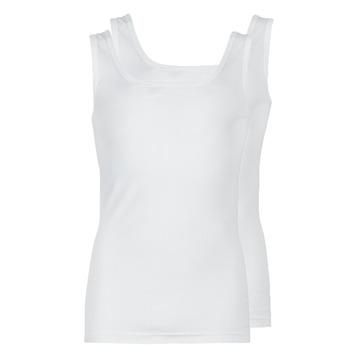Textiel Heren Mouwloze tops Athena COTON BIO Wit