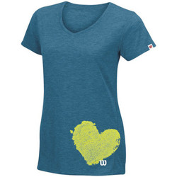 Textiel Dames T-shirts korte mouwen Wilson Summer Clay Heart Tech T
