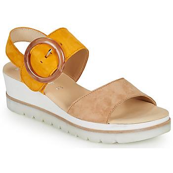 Schoenen Dames Sandalen / Open schoenen Gabor KOKREM Beige / Geel