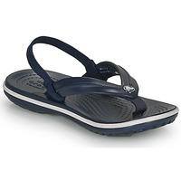 Schoenen Kinderen Sandalen / Open schoenen Crocs CROCBAND STRAP FLIP K Marine