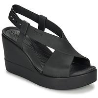 Schoenen Dames Sandalen / Open schoenen Crocs CROCS BROOKLYN HIGH WEDGE W Zwart