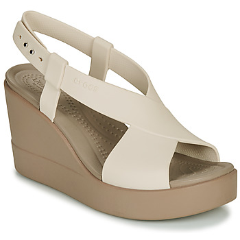 Schoenen Dames Sandalen / Open schoenen Crocs CROCS BROOKLYN HIGH WEDGE W Beige