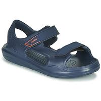 Schoenen Kinderen Sandalen / Open schoenen Crocs SWIFTWATER EXPEDITION SANDAL K Marine