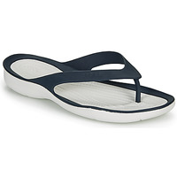 Schoenen Dames Slippers Crocs SWIFTWATER FLIP W Marine / Wit