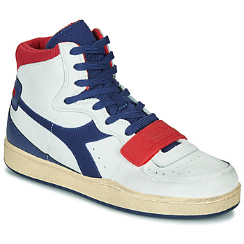 Schoenen Heren Hoge sneakers Diadora MI BASKET USED Wit / Blauw / Rood