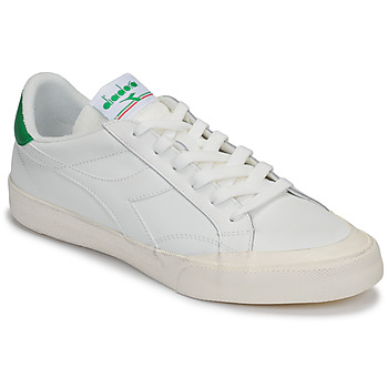 Schoenen Heren Lage sneakers Diadora MELODY LEATHER DIRTY Wit / Groen