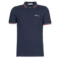 Textiel Heren Polo's korte mouwen Ben Sherman SIGNATURE POLO Marine / Rood / Wit