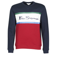 Textiel Heren Sweaters / Sweatshirts Ben Sherman COLOUR BLOCKED LOGO SWEAT Marine / Rood