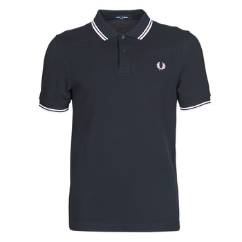 Textiel Heren Polo's korte mouwen Fred Perry TWIN TIPPED FRED PERRY SHIRT Blauw / Wit