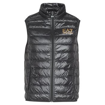 Textiel Heren Dons gevoerde jassen Emporio Armani EA7 CORE ID 8NPQ02 Zwart / Goud