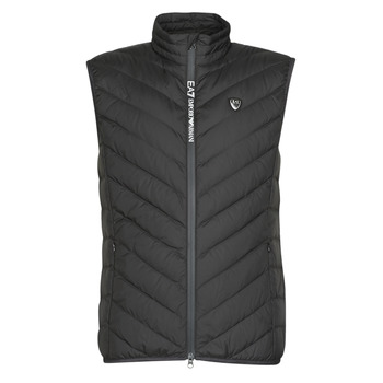 Textiel Heren Dons gevoerde jassen Emporio Armani EA7 TRAIN CORE SHIELD M DOWN LIGHT VEST Zwart