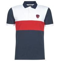 Textiel Heren Polo's korte mouwen Emporio Armani EA7 SEA WORLD ST TROPEZ Marine / Wit / Rood