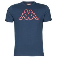 Textiel Heren T-shirts korte mouwen Kappa CROMEN SLIM Blauw