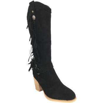 Schoenen Dames Hoge laarzen Silvian Heach B-28 Negro