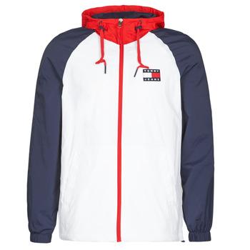 Textiel Heren Wind jackets Tommy Jeans TJM COLORBLOCK ZIPTHROUGH JCKT Wit / Blauw / Rood