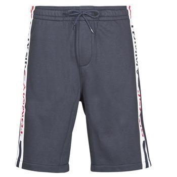 Textiel Heren Korte broeken / Bermuda's Tommy Jeans TJM BRANDED TAPE SHORT Marine