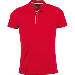 Textiel Heren Polo's korte mouwen Sols PERFORMER MEN SPORT Rojo