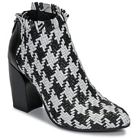 Schoenen Dames Low boots Mimmu JESTINE Zwart / Wit