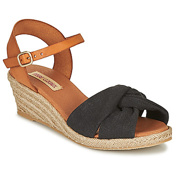 Schoenen Dames Sandalen / Open schoenen Pare Gabia BILMI Zwart / Brown