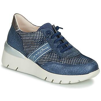 Schoenen Dames Lage sneakers Hispanitas RUTH Blauw / Goud / Zilver