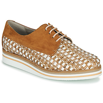 Schoenen Dames Derby Dorking ROMY Brown / Wit