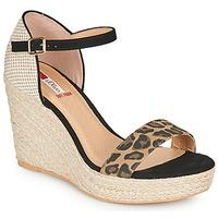 Schoenen Dames Sandalen / Open schoenen S.Oliver NOULATI Zwart / Leopard