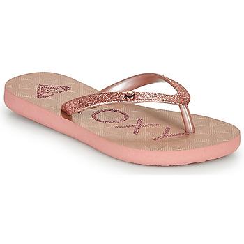 Schoenen Meisjes Slippers Roxy VIVA GLTR III Roze