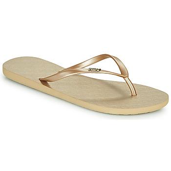 Schoenen Dames Slippers Roxy VIVA V Goud