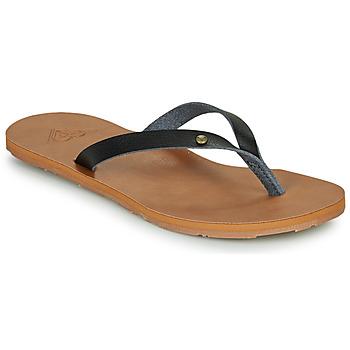 Schoenen Dames Slippers Roxy JYLL III Zwart