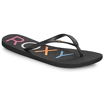 Schoenen Dames Slippers Roxy SANDY III Zwart