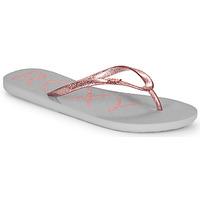 Schoenen Dames Slippers Roxy VIVA SPARKLE Grijs / Roze