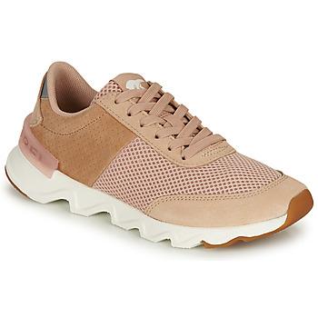 Schoenen Dames Lage sneakers Sorel KINETIC LITE LACE Beige / Roze