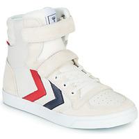Schoenen Kinderen Hoge sneakers Hummel SLIMMER STADIL LEATHER HIGH JR Wit