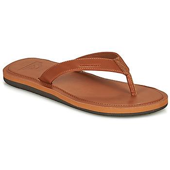 Schoenen Heren Slippers Quiksilver MOLOKAI NUBUK II Brown