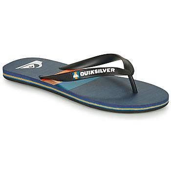 Schoenen Heren Slippers Quiksilver MOLOKAI SEASONS Zwart / Blauw / Orange