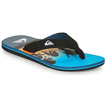 Schoenen Heren Slippers Quiksilver MOLOKAI LAYBACK Blauw / Zwart